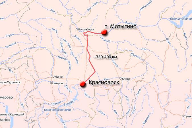 В Красноярском крае на Ангаре