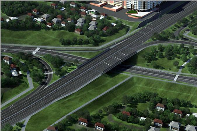 съезда с четвертого моста